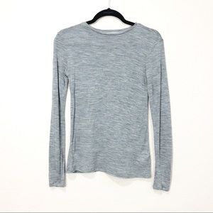 & other stories 100% Wool Gray Long Sleeve Shirt